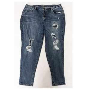 LANE BRYANT Embroidered Patch Jeans 22